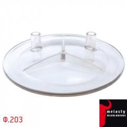 Καπάκι Κάδου Γάλακτος Πλαστικό Διαφανές 2 Εξόδων Φ203