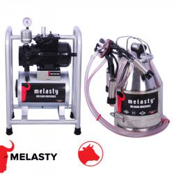 Αρμεκτική Μηχανή χωρίς λάδι σε βάση μεταφοράς γαλβανιζέ με κάδο αρμέγματος αγελάδος